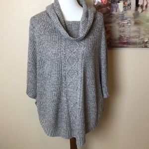 Karen Scott Scooped Neck Poncho